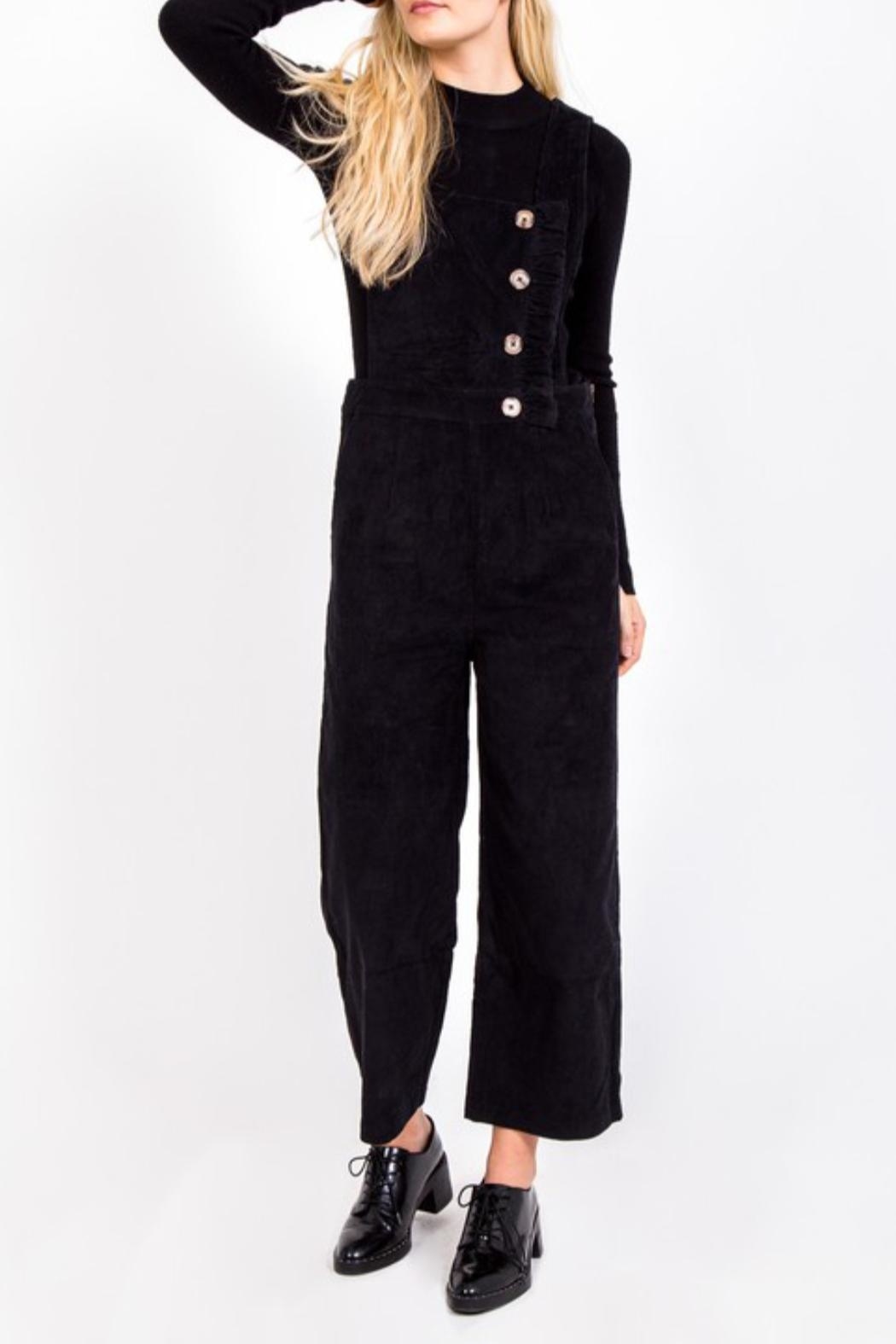 LoveRiche Button Corduroy Overall - Main Image