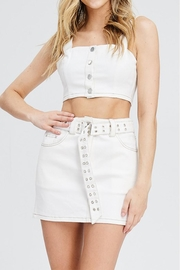 Emory Park Button Crop Top - Product Mini Image