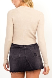 Olivaceous Button Cropped Sweater - Side cropped