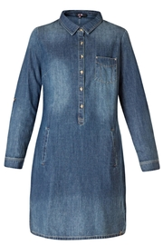 Yest Button Denim Dress - Product Mini Image