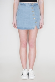 honey belle Button Denim Skirt - Product Mini Image