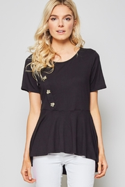 Andree by Unit Button Detail Tee - Front cropped