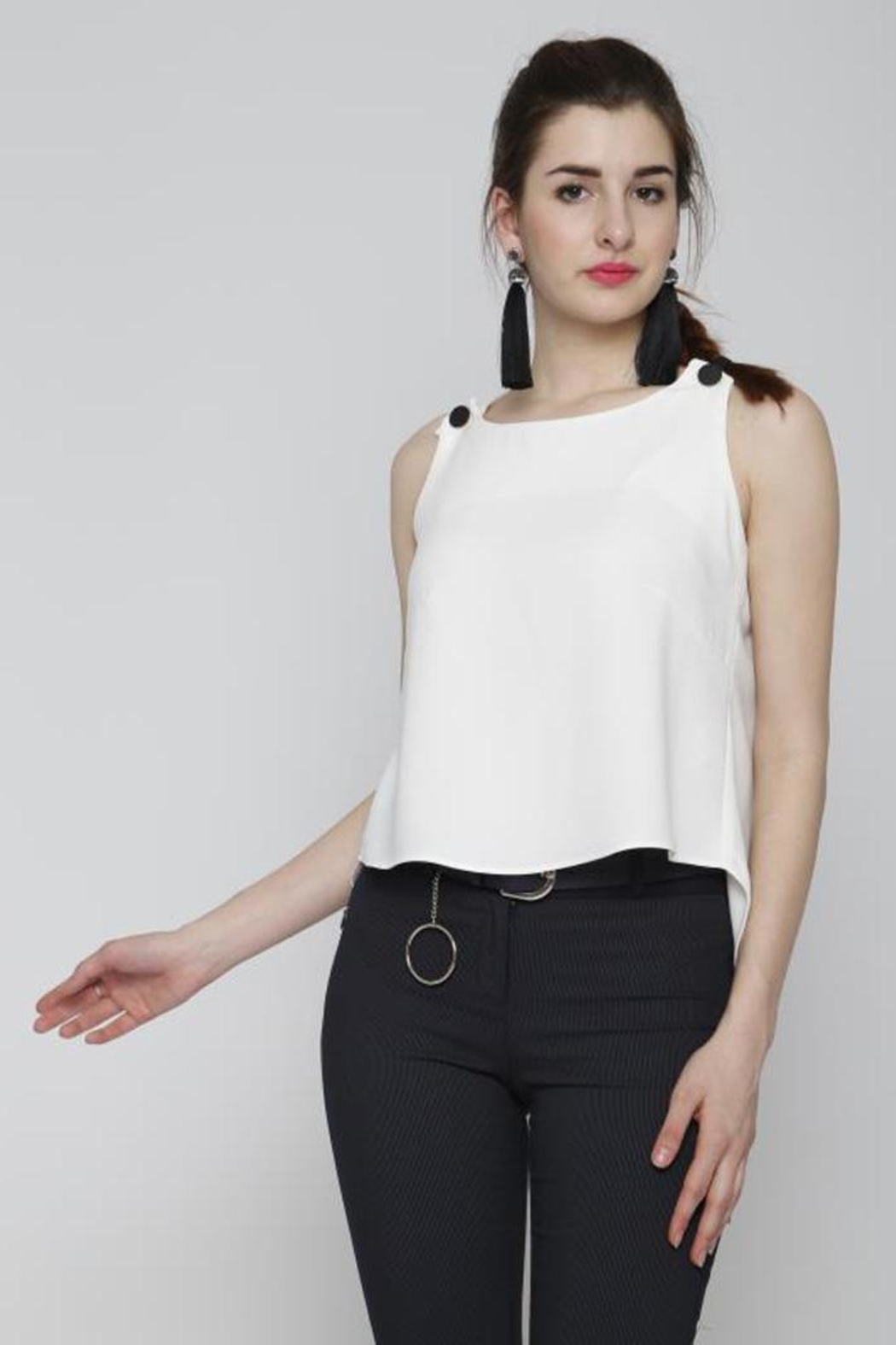 Marvy Fashion Button Detail Top - Main Image