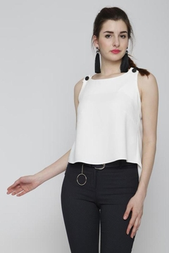 Marvy Fashion Button Detail Top - Product List Image