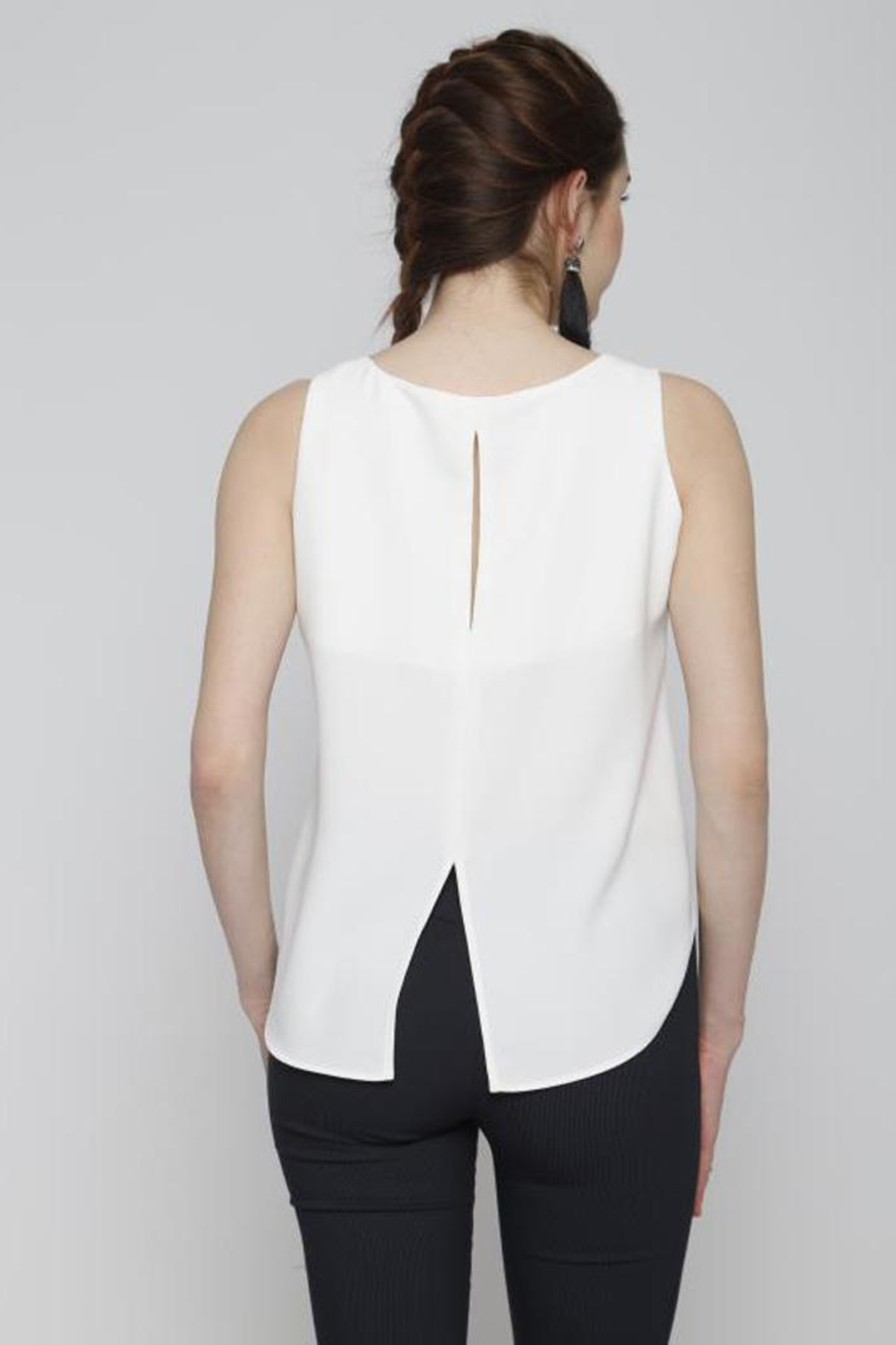 Marvy Fashion Button Detail Top - Front Full Image