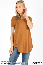 Zenana Outfitters Button Detail Top - Product Mini Image
