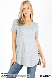 Zenana Outfitters Button Detail Tunic - Front cropped