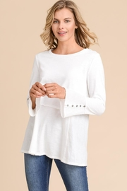 Elegance by Sarah Ruhs Button Detail Tunic - Product Mini Image