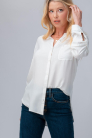 Trend Notes  Button Down Artist shirt with Tabbed Sleeves - Product Mini Image