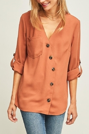 Entro Button-Down Asymmetrical Shirt - Product Mini Image