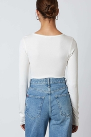 Cotton Candy  Button Down Basic Top - Side cropped