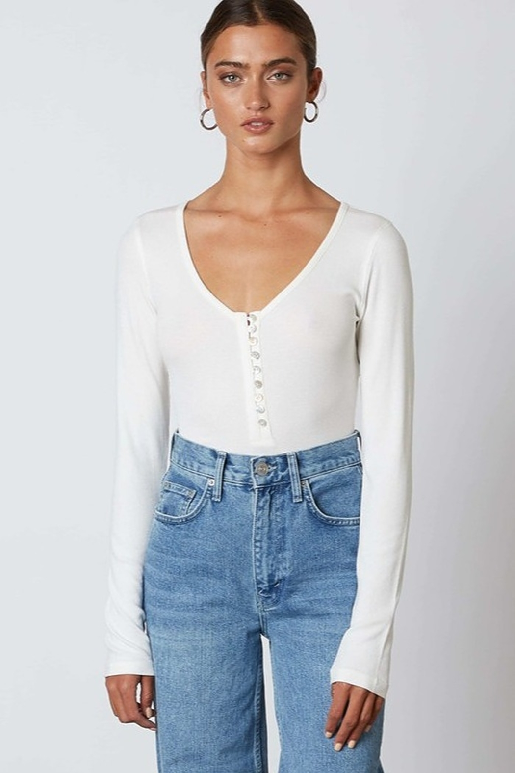Cotton Candy  Button Down Basic Top - Main Image