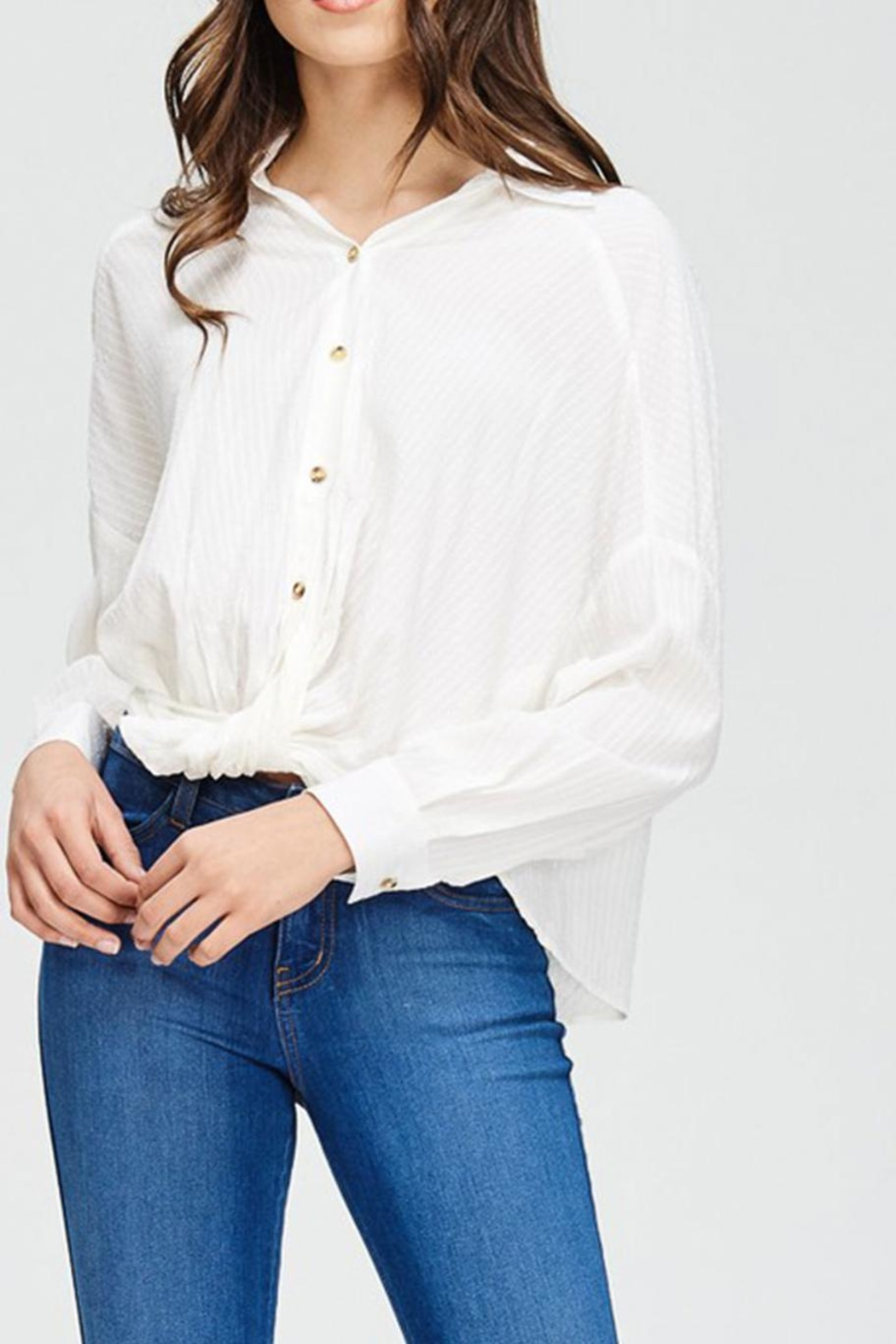 Emory Park Button Down Blouse - Side Cropped Image