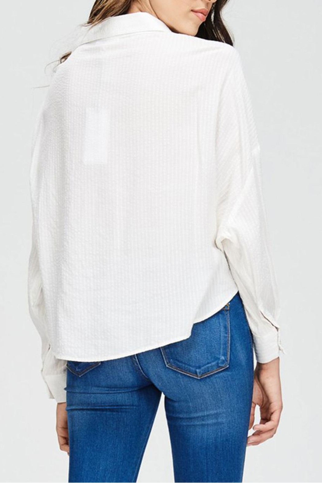 Emory Park Button Down Blouse - Back Cropped Image