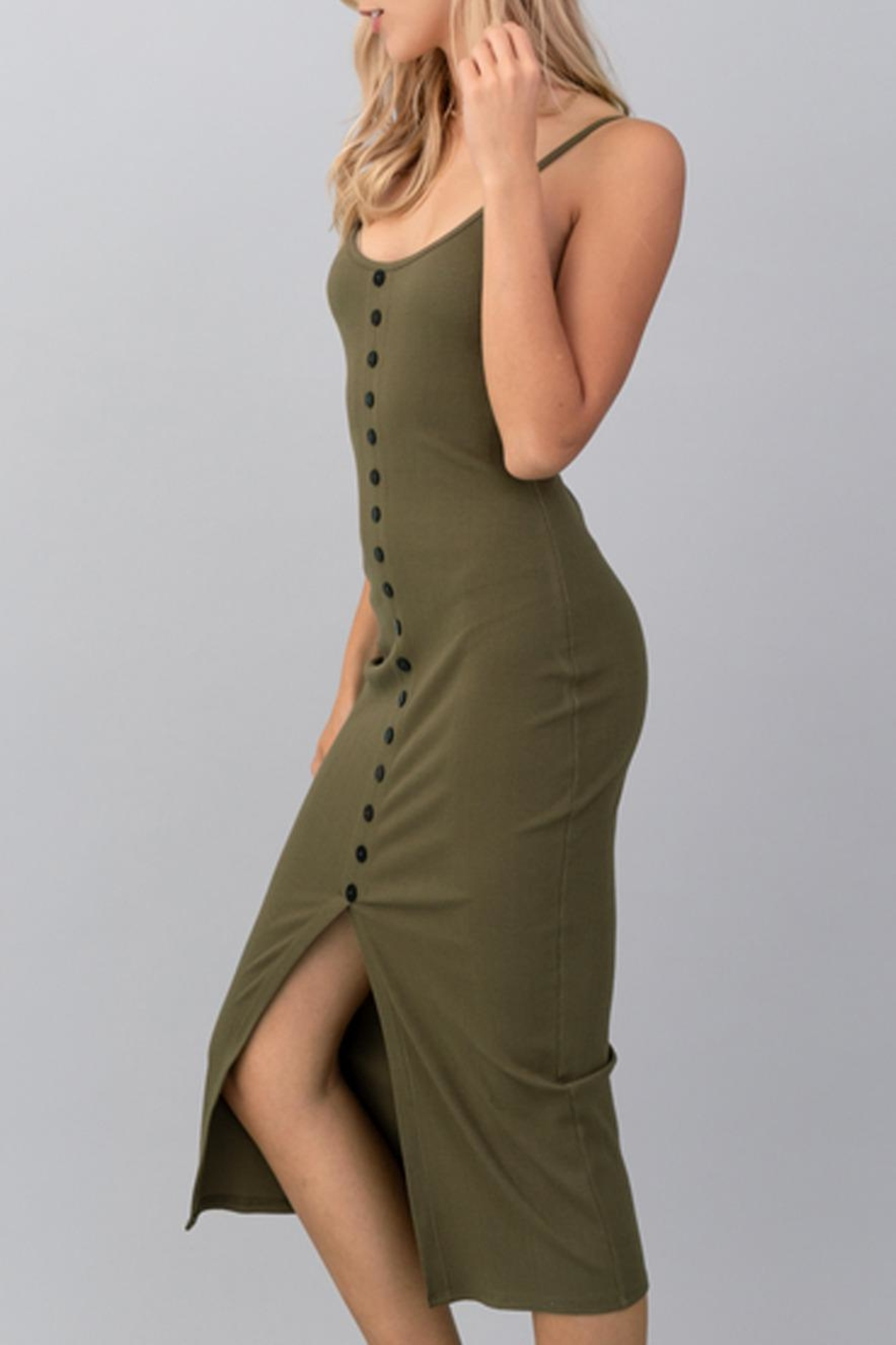 Hashttag Button-Down Cami Dress - Front Full Image