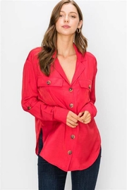 HYFVE Button Down Cargo Top (Shown in Raspberry) - Product Mini Image