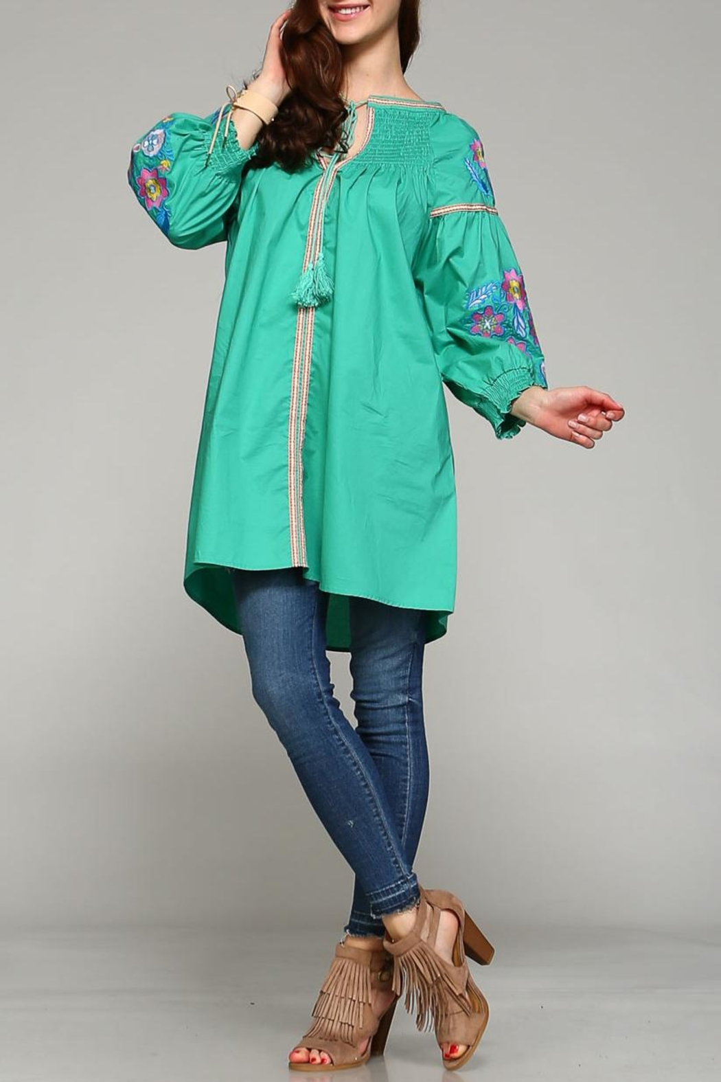 Velzera Button-Down Cover-Up Top - Main Image