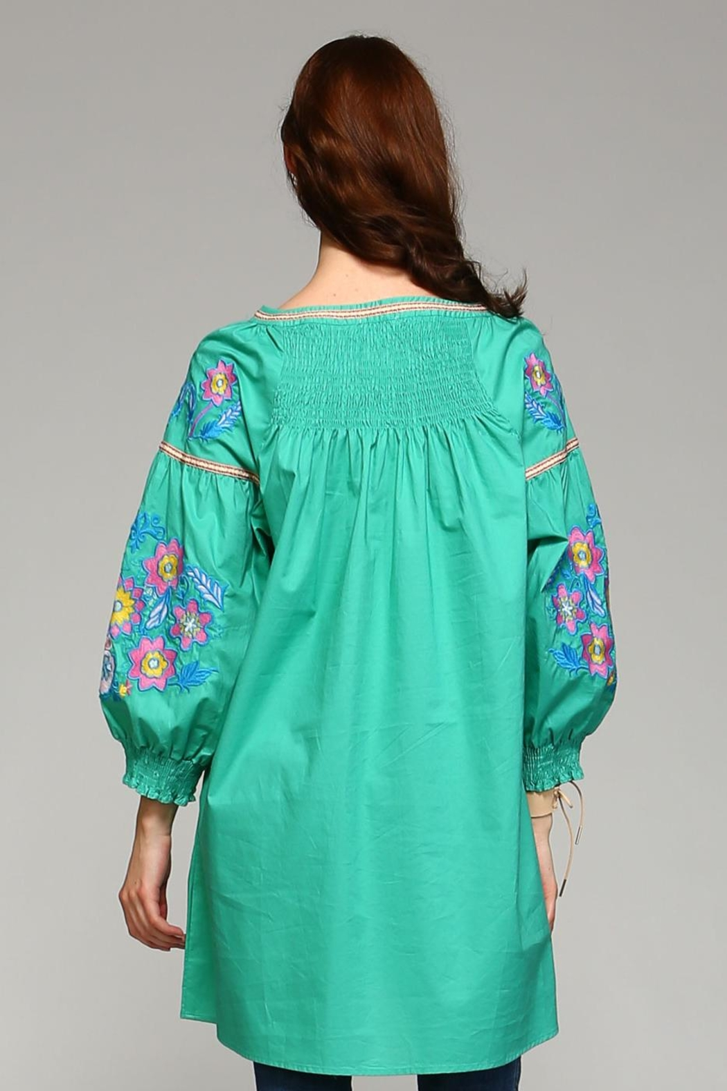 Velzera Button-Down Cover-Up Top - Side Cropped Image