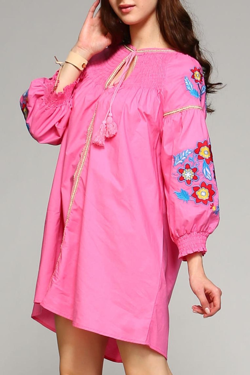 Velzera Button-Down Cover-Up Top - Front Full Image