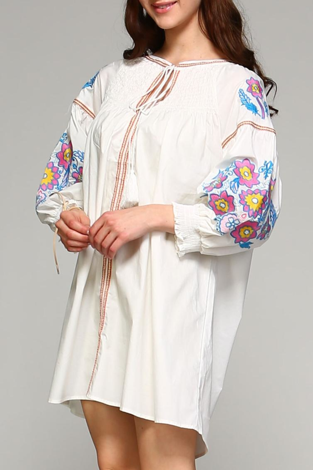 Velzera Button-Down Cover-Up Top - Front Cropped Image
