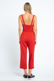 skylar madison Button-Down Crop Jumpsuit - Front full body