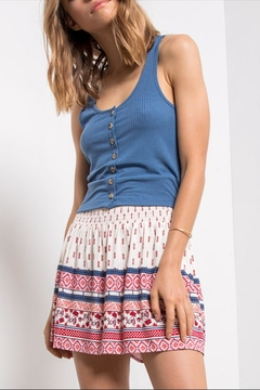 Others Follow  Button-Down Crop Tank - Product List Image