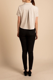 Mod Ref Button Down Crop Top - Front full body