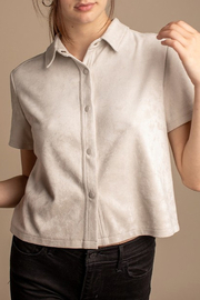 Mod Ref Button Down Crop Top - Product Mini Image