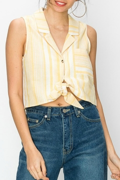 Favlux Button-Down Cropped-Shirt - Product List Image