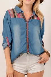 Andree by Unit Button-Down Denim Shirt - Product Mini Image