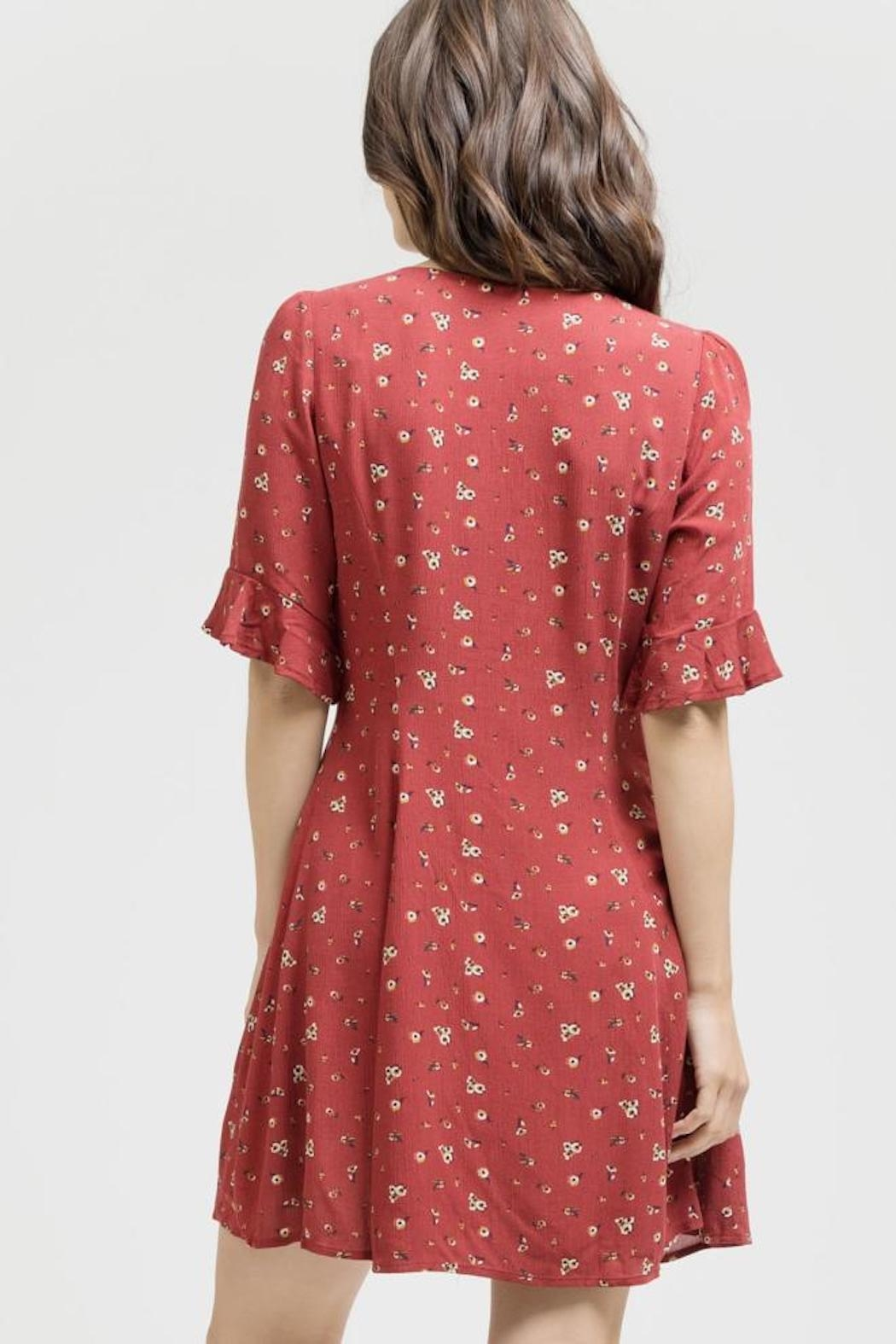 Blu Pepper Button Down Dress - Front Full Image