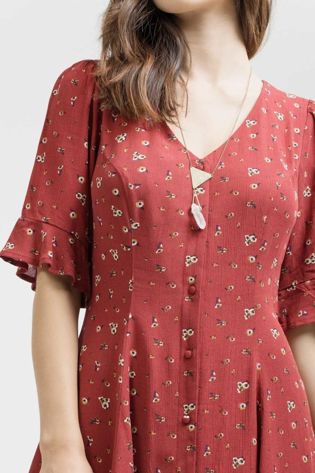 Blu Pepper Button Down Dress - Side Cropped Image