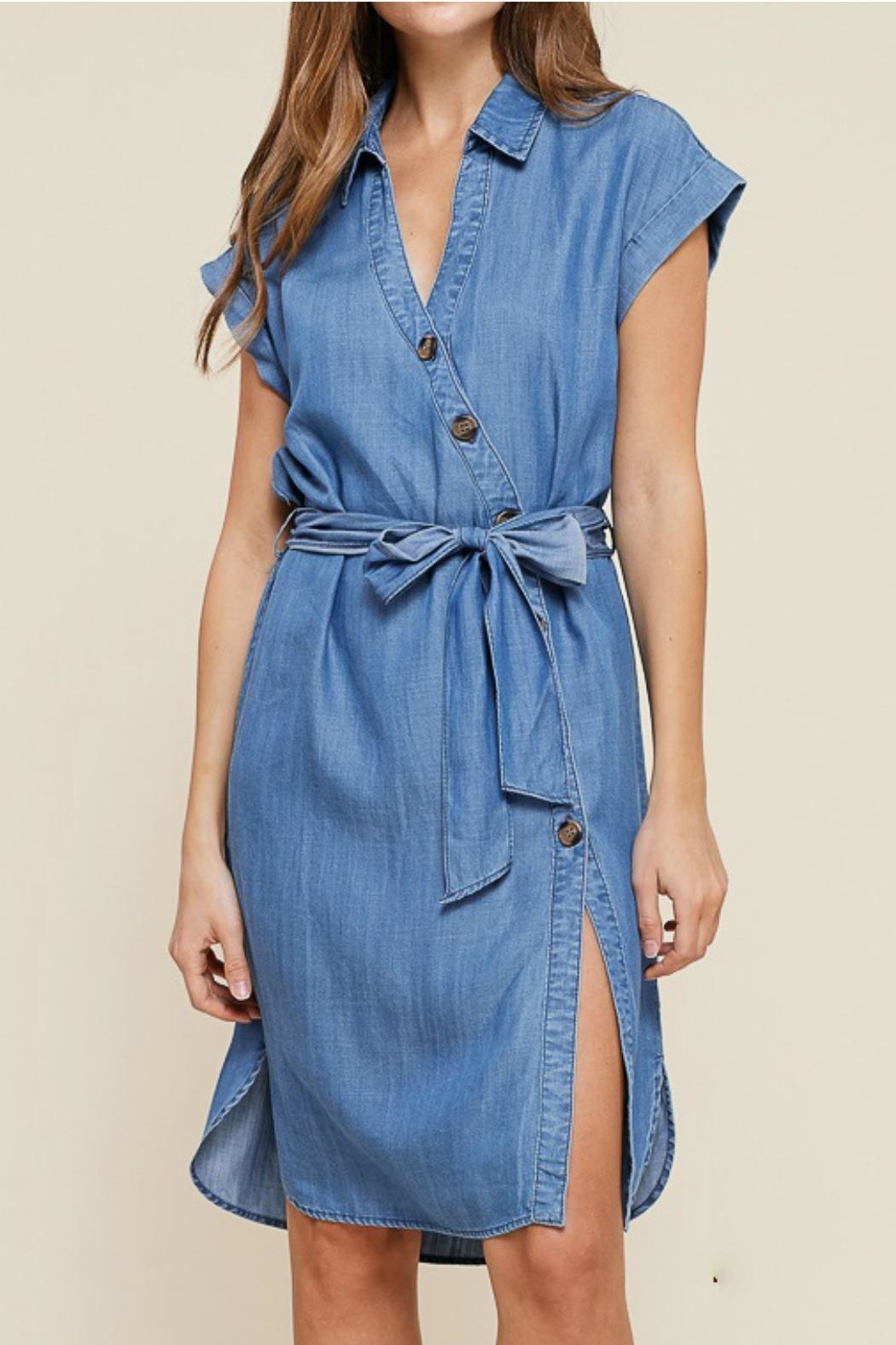 Staccato Button Down Dress - Main Image