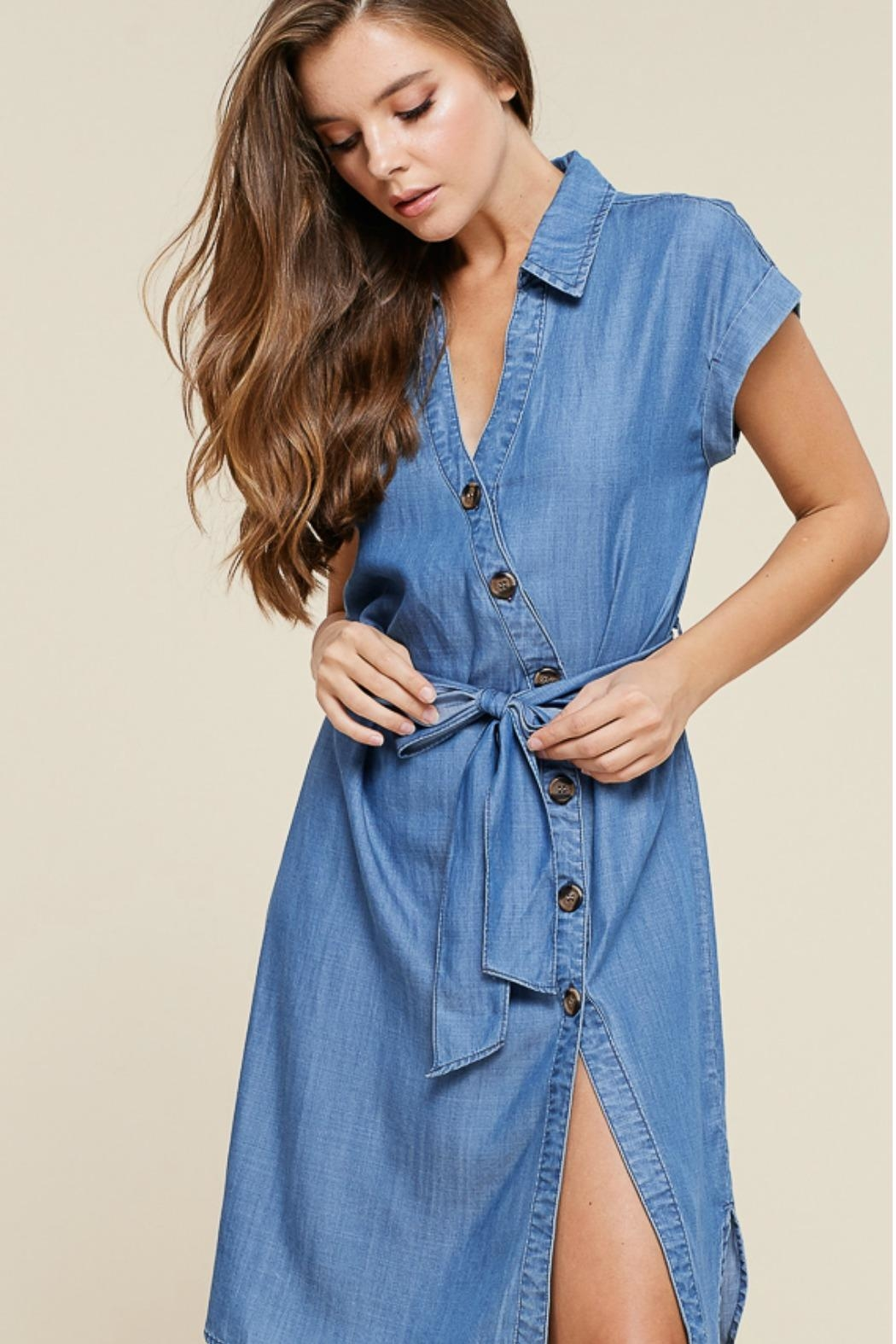 Staccato Button Down Dress - Front Full Image