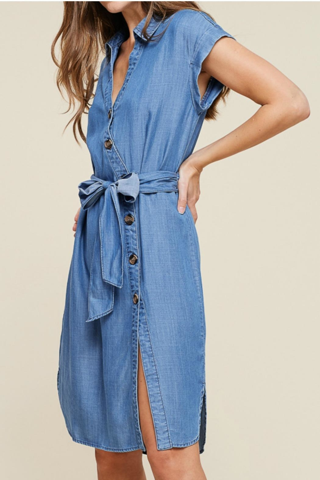 Staccato Button Down Dress - Side Cropped Image