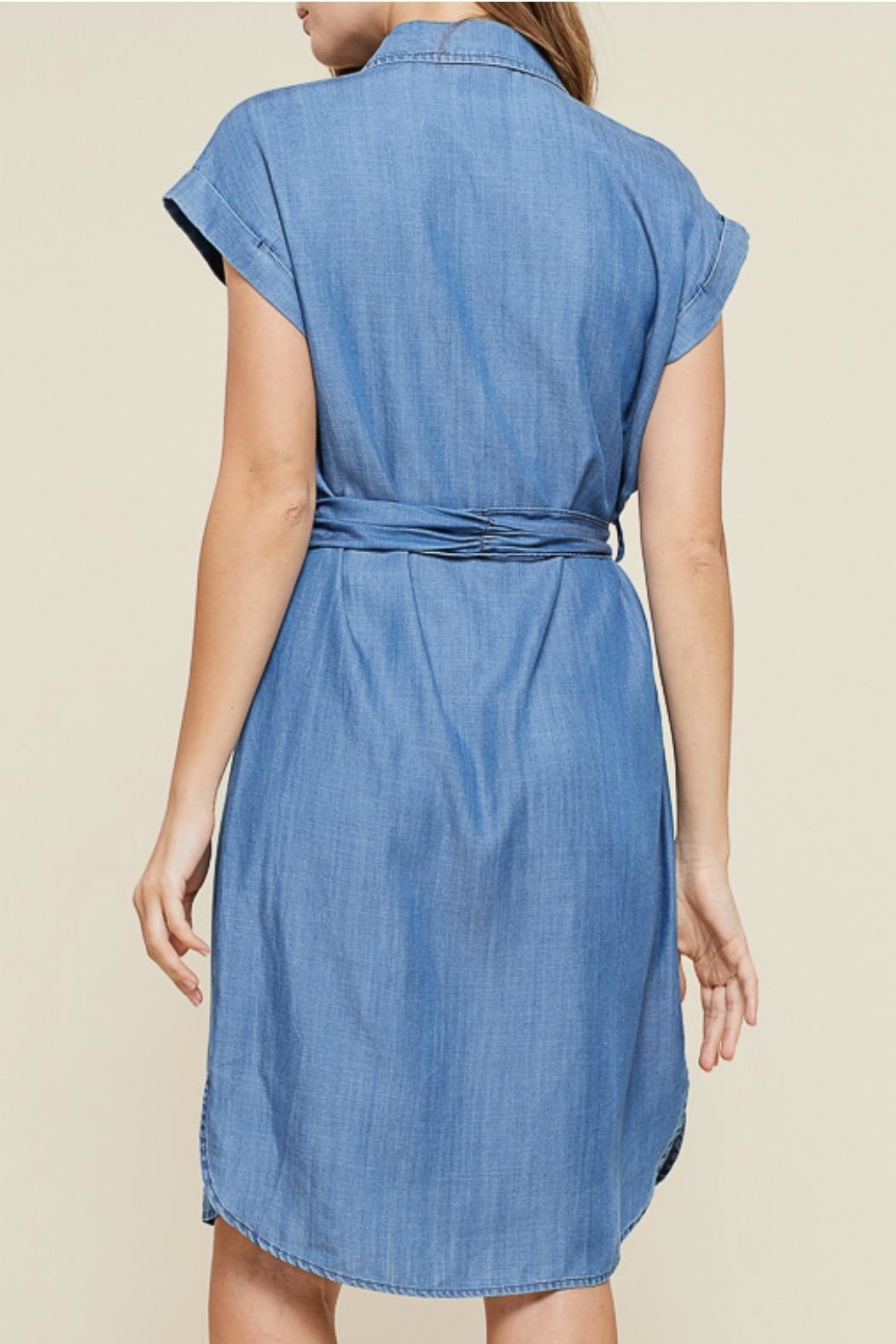 Staccato Button Down Dress - Back Cropped Image