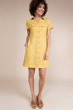 Uncle Frank Button Down Dress with Patch Pockets - Product List Image