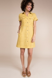Uncle Frank Button Down Dress with Patch Pockets - Product Mini Image