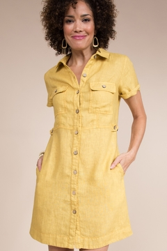 Uncle Frank Button Down Dress with Patch Pockets - Alternate List Image