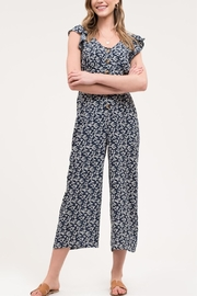 Blu Pepper Button-Down Floral Jumpsuit - Product Mini Image