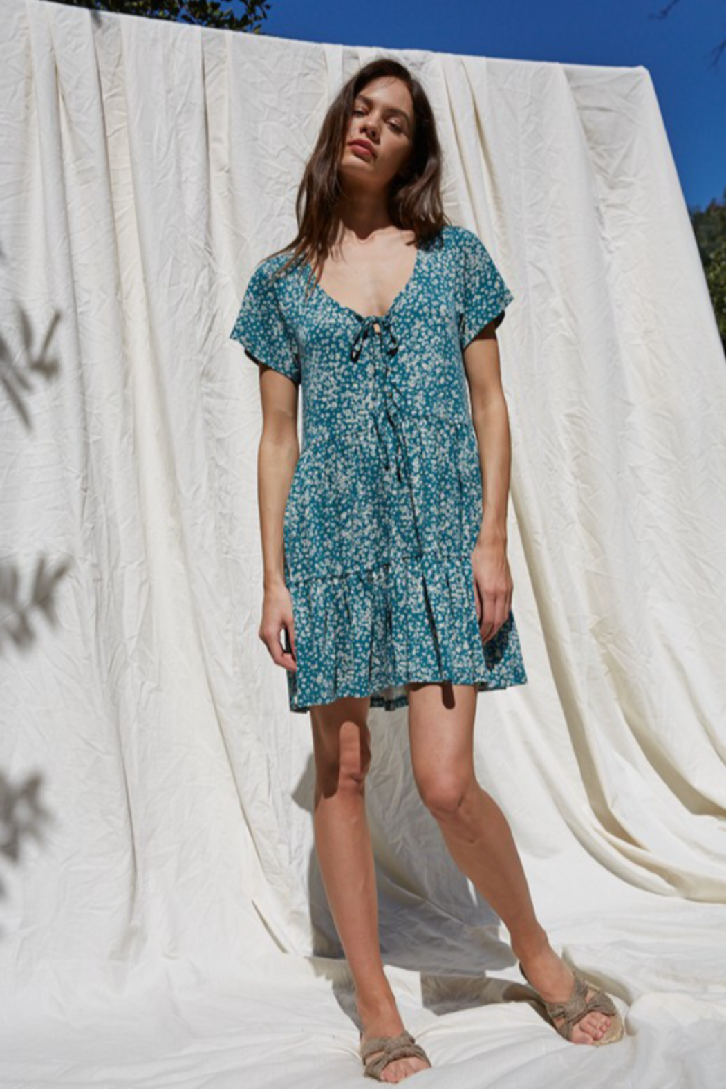 By Together  Button Down Flowy Dress - Main Image