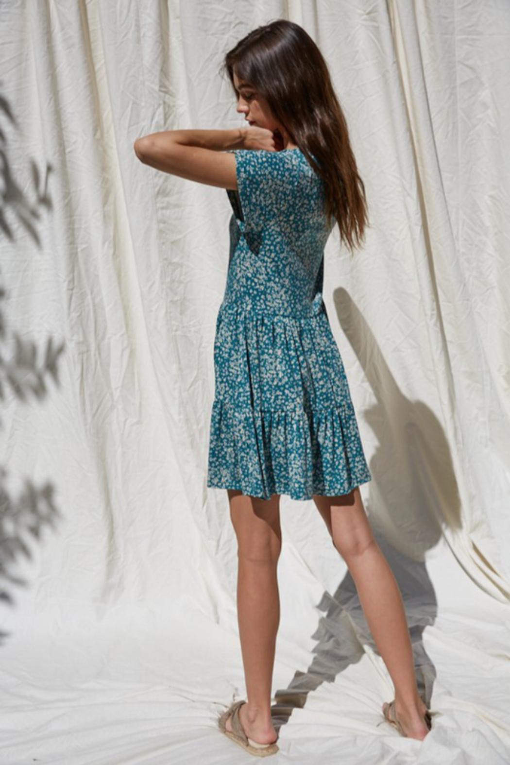 By Together  Button Down Flowy Dress - Side Cropped Image