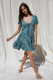 By Together  Button Down Flowy Dress - Front full body