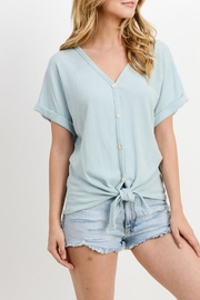 Paper Crane Button down, front tie top - Product Mini Image