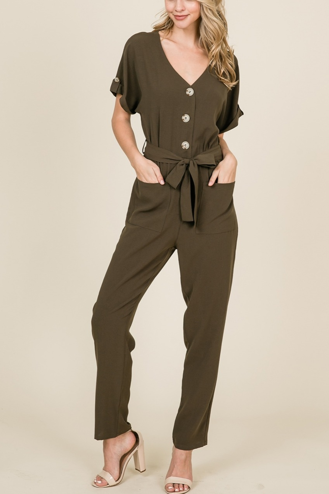 Lyn -Maree's Button Down Jumpsuit - Main Image