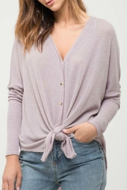 Blu Pepper Button-Down Knit Top - Front cropped