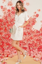 Umgee  Button Down Linen Dress - Product Mini Image