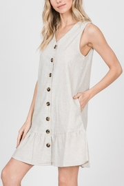 Lyn-Maree's  Button Down Linen Mini - Front cropped