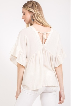 Very J Button Down Loose Blouse - Alternate List Image
