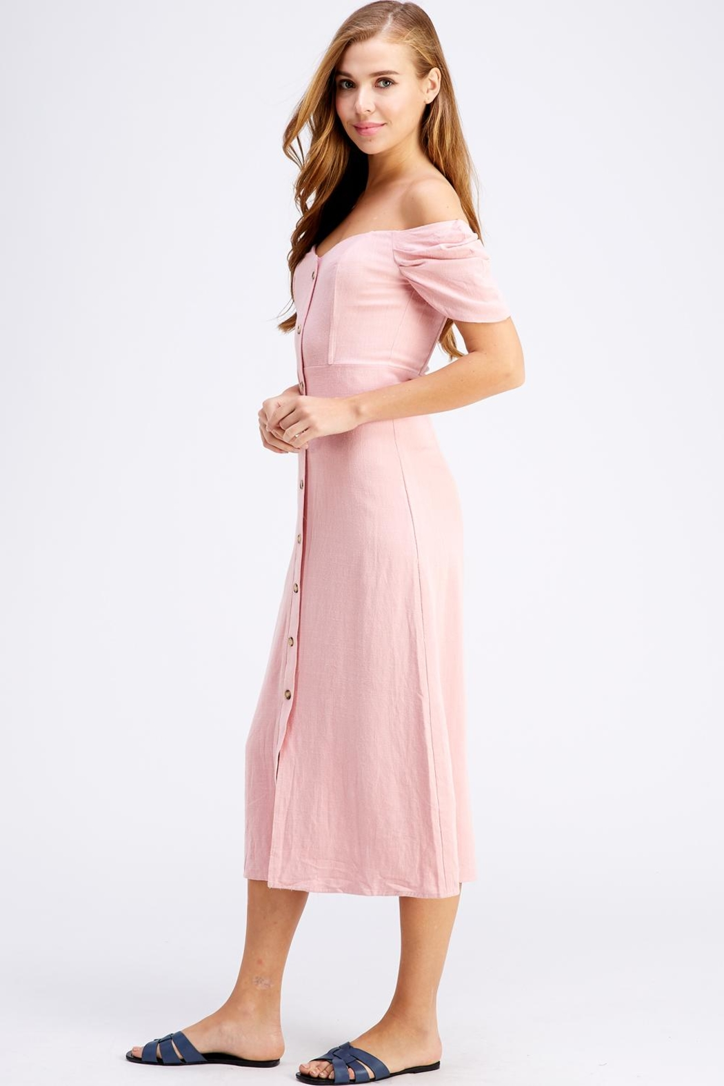dress forum Button-Down Midi Dress - Front Full Image